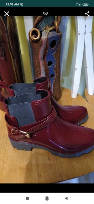 Short Boots Rain Leather Non-Slip Shoes Elastic Band Water Shoes Size 36 for Sale in Oakland Park, FL
