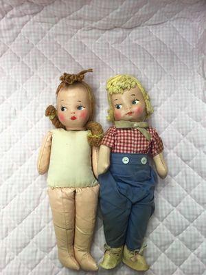 1940's ? Oil Cloth Dolls Antique for Sale in Naperville, IL