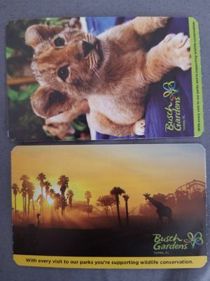 Busch gardens tickets for Sale in Tampa, FL