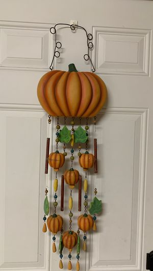 Pumpkin wind chimes fall leaves for Sale in Fort Lauderdale, FL