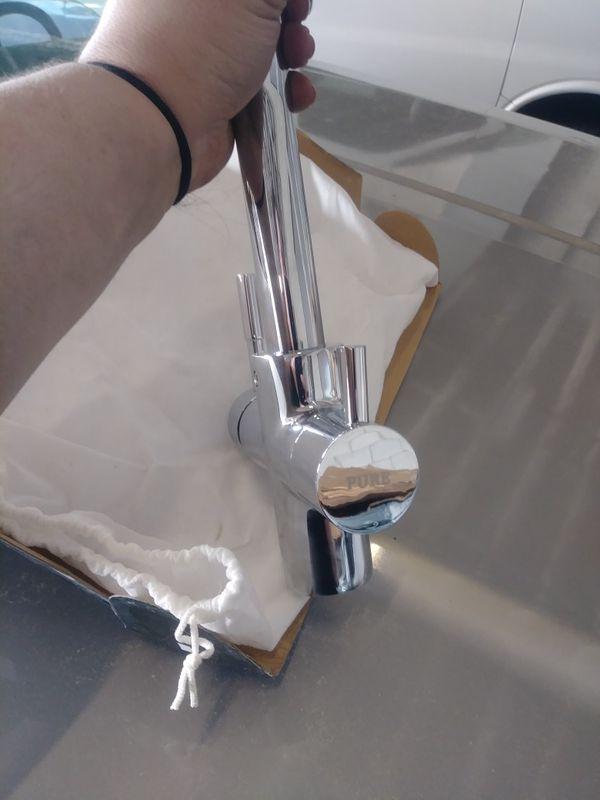 CAE chrome kitchen faucet