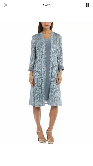 Formal Dress Plus Size 18 Blue 2pc long sleeves Jacket NEW Mother of the Bride Groom for Sale in Oak Lawn, IL