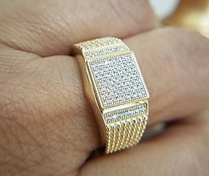 14k Gold plated men's Wedding Band Ring for Sale in Los Angeles, CA
