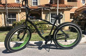 "Fat Tire Baja Cruz Cruiser Bike -26"" Wheels- Black w/ Green Rims. for Sale in Pembroke Pines, FL"