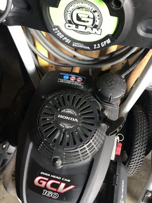 Honda pressure washer 2700 psi works very well hardly used for Sale in Waterford Township, MI