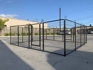 New in box 40 inch tall x 32 inches wide each panel x 16 panels exercise playpen fence safety gate dog cage crate kennel perrera cerca for Sale in Whittier, CA