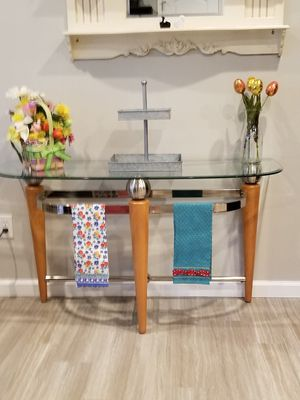 Beautiful glass entry-lane table for Sale in Union, MO