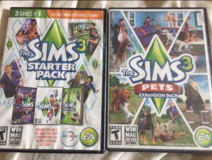 Sims 3 Starter Pack and Pets Expansion Pack Computer Software for Sale in Roy, WA