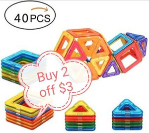40pc Magnetic Blocks Building Toys/buy 2 off $3 for Sale in Rowland Heights, CA