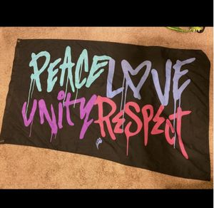 Peace Love Unity Respect Flag Insomniac EDC rave for Sale in Phoenix, AZ