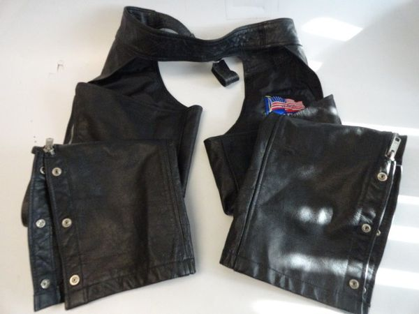 Leather Riding Chaps - Size 36