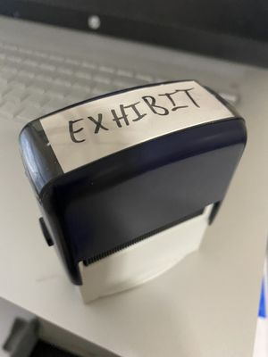 Exhibit Office Self Ink Black Rubber Stamp for Sale in Fayetteville, NC