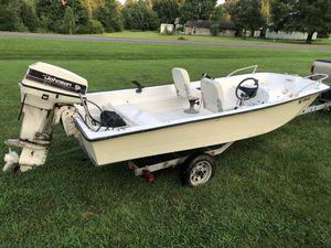 14' mckee craft evinrude outboard galvanized trailer for Sale in Lincolnton, NC