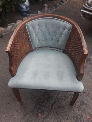 Vintage 50s 60s maple wood chair with cushion for Sale in Arcadia, CA