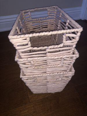 3 wicker baskets for Sale in Los Angeles, CA