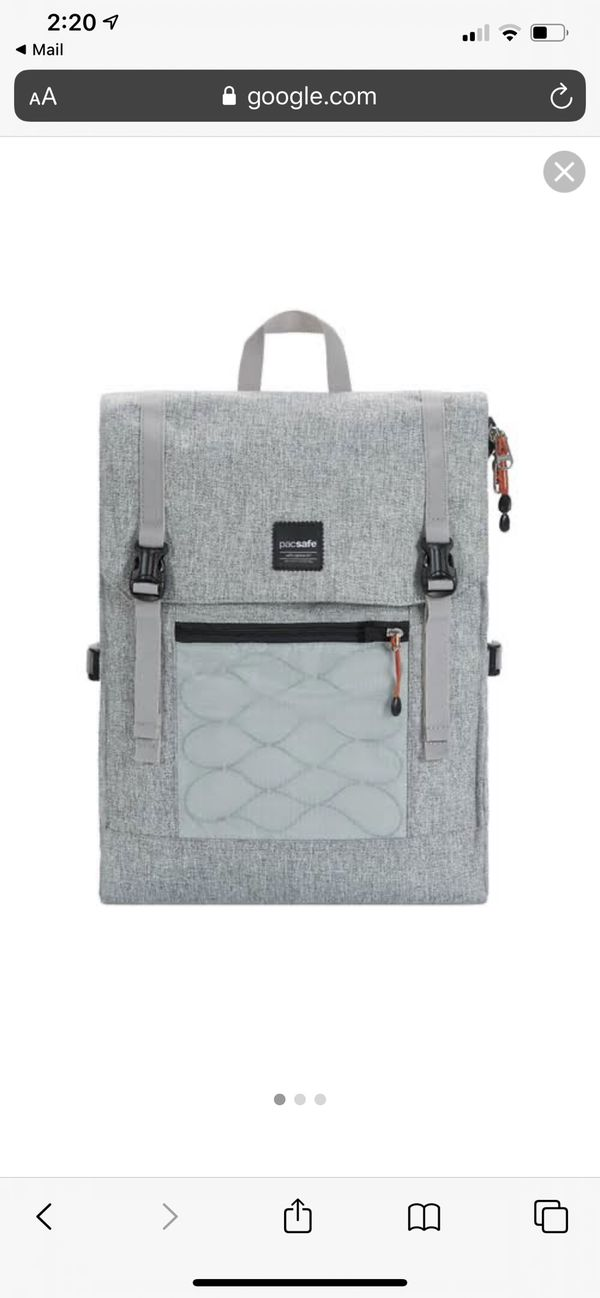 Pacsafe Slingsafe LX450 Anti Theft 14L Backpack Tweed Grey