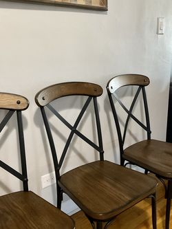 Vintage Industrial Dining Chair (4) – Brown for Sale in Queens,  NY