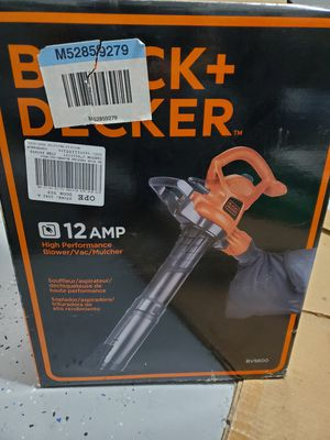 BLACK & DECKER 12-Amp 400-CFM 250-MPH Medium-Duty Corded Electric Leaf Blower with Vacuum Kit for Sale in Chandler, AZ