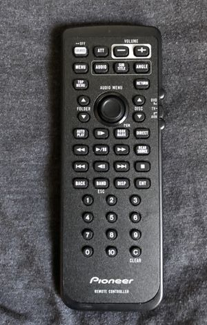Pioneer remote Control for indash car Stereos with dvd audio receivers for Sale in Fresno, CA