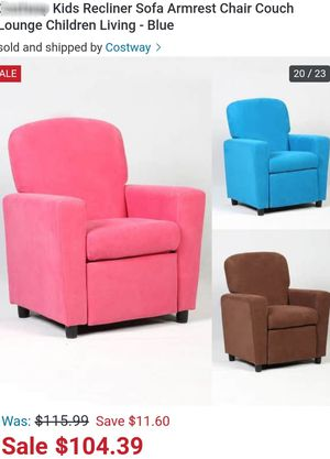 Pink Kids Recliner Sofa Armrest Chair Couch Lounge Children Living Room Furniture for Sale in Riverside, CA