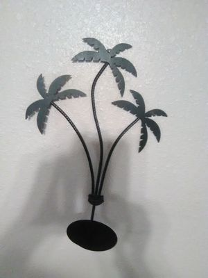 Palm tree candle holder wall decoration for Sale in Hemet, CA