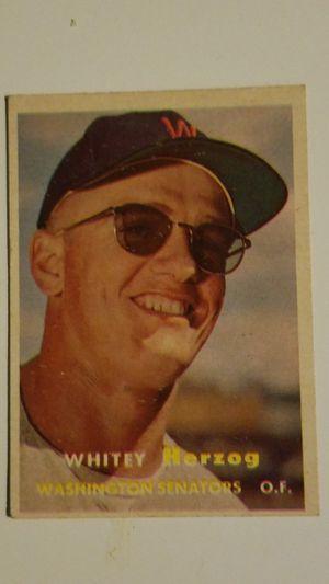 1957 Whitey Herzog Rookie Baseball Card for Sale in Tampa, FL