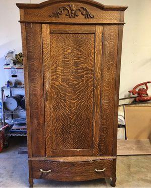 Antique Oak Armoire for Sale in Long Beach, CA