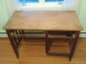 Solid wooden desk without drawers $35 for Sale in Alexandria, VA