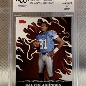 2007 Topps Red Hot Rookies 🔥 Calvin Johnson BCCG 9 💎 - Detroit Lions for Sale in Santee, CA