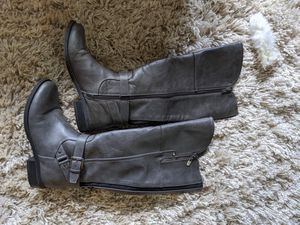 Gray leather boots for Sale in Kent, WA