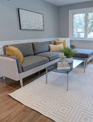 New in box mid century modern sectional sofa available in three colors for Sale in Downey, CA