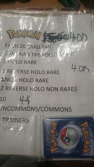 Pokemon packs 2 dollars each! 20 cards each for Sale in Tacoma, WA