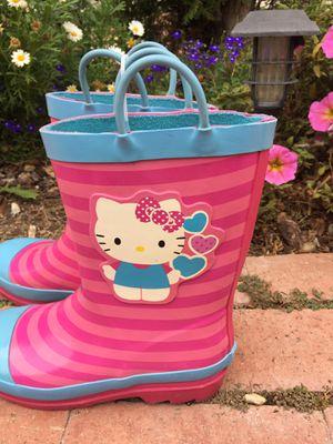 Rain boots Hello Kitty kids size L 2/3 for Sale in Burbank, CA