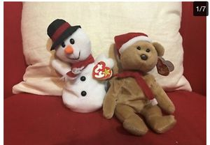 Ty Beanie Babies - Snowball & Teddy - Christmas stocking stuffers for Sale in Bowie, MD