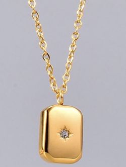 18k Gold Plated Titanium Rectangle CZ Star Necklace for Sale in Mount Clare,  WV