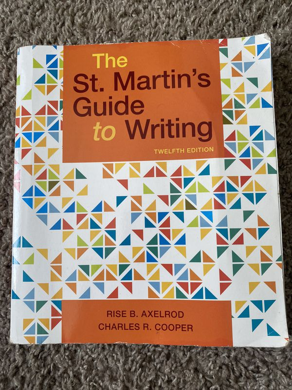 The St.Martin's Guide to Writing