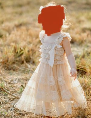 Lace Boho dress / flower girl dress 2t-3t for Sale in Land O' Lakes, FL