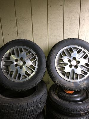 Toyos M/S 205/60R15 never used just dirty can be cleaned 150 with rims OBO for Sale in Tacoma, WA