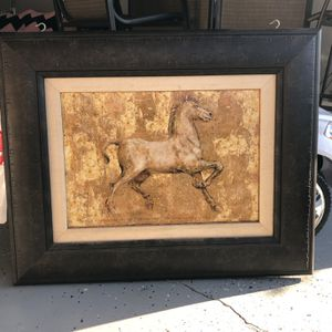 Horse Picture With Frame for Sale in Modesto, CA