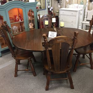 Solid Wood Dining Table/4 Chairs for Sale in Lawrenceville, GA