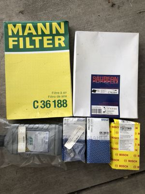 Audi authentic German service parts oil filter x3, air filter, cabin charcoal filter, hydronic fluid NEW for Sale in Los Angeles, CA