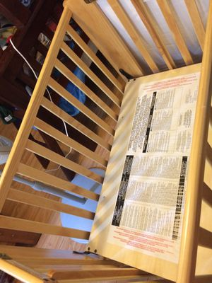 baby crib foundation brand in extra clean conditions it is foldable afther use for Sale in Westminster, CA