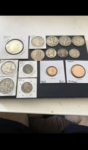 Morgan silver dollar, silver half dollar, Washington silver quarter, coin lot for Sale in San Dimas, CA