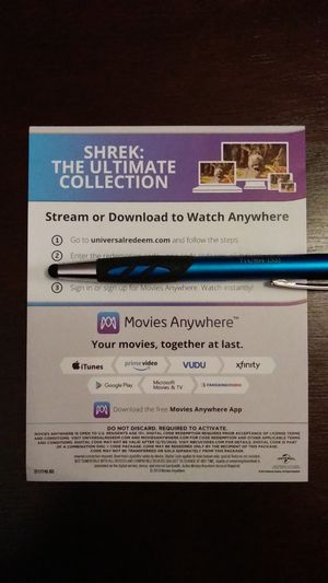 Shrek: The Ultimate Collection HD Digital Code for Sale in Anaheim, CA