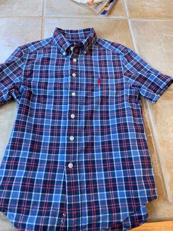 Boys small 8 Ralph Lauren Button up shirt s/s