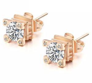 SHIPPING ONLY. ❤4cts Eiffel Tower Lab Diamond Rose Gold Finished Stud Earring for Sale in Silver Spring, MD