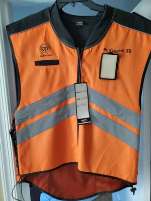 Motorcycle Reflective vest with front clear see through id holder for Sale in Chantilly, VA