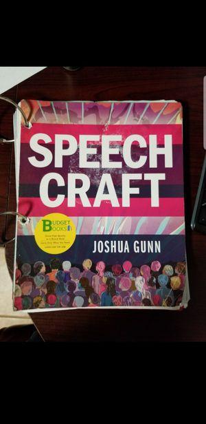 Speech Craft by Joshua Gunn. for Sale in Old Mill Creek, IL