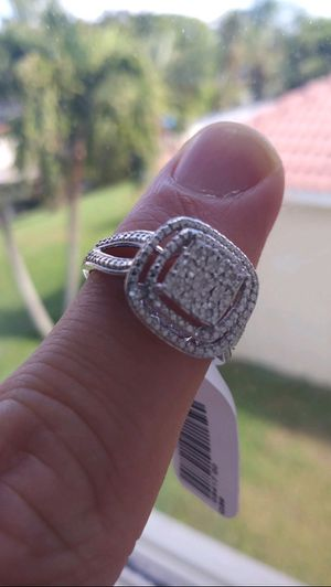 Kay Jewelers Diamond Ring New in Box - Size 7 - 925 - Free Earrings - Same Day Ship for Sale in Hialeah, FL
