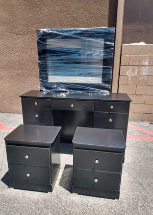 Black Vanity Dresser Furniture Set - We Deliver! for Sale in Santa Ana, CA